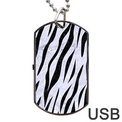 Skin3 Black Marble & White Marble (r) Dog Tag Usb Flash (two Sides) by trendistuff