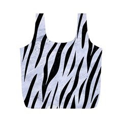 Skin3 Black Marble & White Marble (r) Full Print Recycle Bag (m) by trendistuff