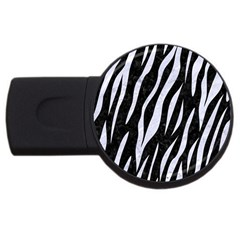 Skin3 Black Marble & White Marble Usb Flash Drive Round (2 Gb) by trendistuff