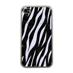 Skin3 Black Marble & White Marble Apple Iphone 4 Case (clear) by trendistuff