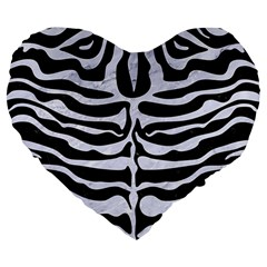 Skin2 Black Marble & White Marble Large 19  Premium Heart Shape Cushion by trendistuff