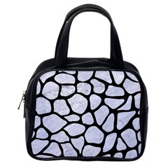Skin1 Black Marble & White Marble Classic Handbag (one Side) by trendistuff