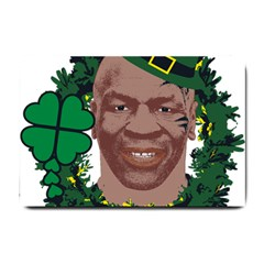 Kith Me I m Irith, Mike Tyson St Patrick s Day Design Small Doormat  by twistedimagetees