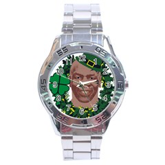 Kith Me I m Irith, Mike Tyson St Patrick s Day Design Stainless Steel Analogue Watch by twistedimagetees