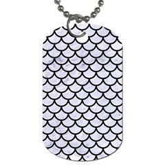 Scales1 Black Marble & White Marble (r) Dog Tag (one Side) by trendistuff