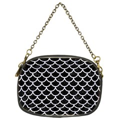 Scales1 Black Marble & White Marble Chain Purse (one Side) by trendistuff