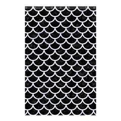 Scales1 Black Marble & White Marble Shower Curtain 48  X 72  (small) by trendistuff