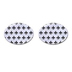 Royal1 Black Marble & White Marble Cufflinks (oval) by trendistuff
