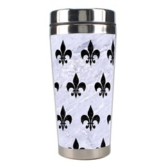 Royal1 Black Marble & White Marble Stainless Steel Travel Tumbler by trendistuff