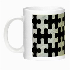 Puzzle1 Black Marble & White Marble Night Luminous Mug