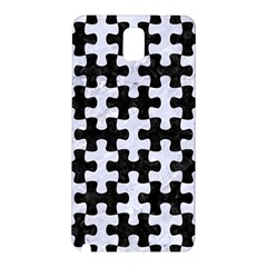 Puzzle1 Black Marble & White Marble Samsung Galaxy Note 3 N9005 Hardshell Back Case by trendistuff