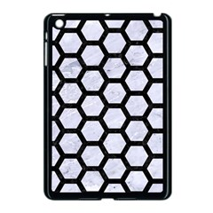 Hexagon2 Black Marble & White Marble (r) Apple Ipad Mini Case (black)