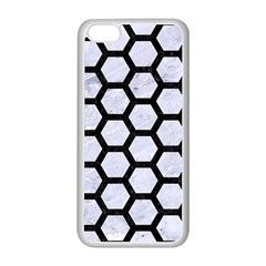 Hexagon2 Black Marble & White Marble (r) Apple Iphone 5c Seamless Case (white) by trendistuff