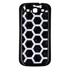 Hexagon2 Black Marble & White Marble Samsung Galaxy S3 Back Case (black) by trendistuff