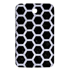 Hexagon2 Black Marble & White Marble Samsung Galaxy Tab 3 (7 ) P3200 Hardshell Case  by trendistuff