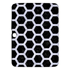 Hexagon2 Black Marble & White Marble Samsung Galaxy Tab 3 (10 1 ) P5200 Hardshell Case  by trendistuff