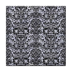 Damask2 Black Marble & White Marble (r) Face Towel by trendistuff