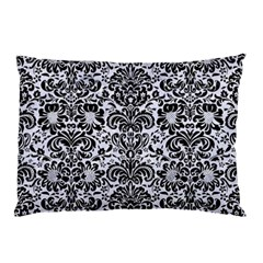 Damask2 Black Marble & White Marble (r) Pillow Case by trendistuff
