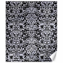 Damask2 Black Marble & White Marble Canvas 20  X 24  by trendistuff