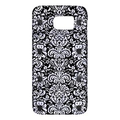 Damask2 Black Marble & White Marble Samsung Galaxy S6 Hardshell Case  by trendistuff