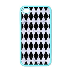 Diamond1 Black Marble & White Marble Apple Iphone 4 Case (color) by trendistuff