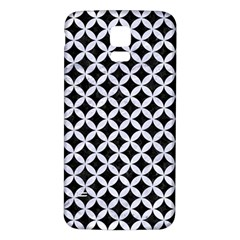 Circles3 Black Marble & White Marble Samsung Galaxy S5 Back Case (white) by trendistuff