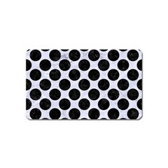Circles2 Black Marble & White Marble (r) Magnet (name Card) by trendistuff