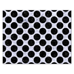 Circles2 Black Marble & White Marble (r) Jigsaw Puzzle (rectangular) by trendistuff