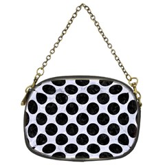 Circles2 Black Marble & White Marble (r) Chain Purse (two Sides) by trendistuff