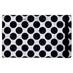 Circles2 Black Marble & White Marble (r) Apple Ipad 3/4 Flip Case