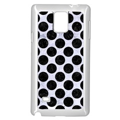 Circles2 Black Marble & White Marble (r) Samsung Galaxy Note 4 Case (white) by trendistuff