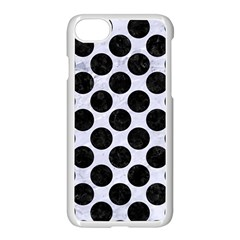 Circles2 Black Marble & White Marble (r) Apple Iphone 7 Seamless Case (white)