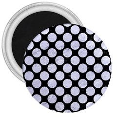 Circles2 Black Marble & White Marble 3  Magnet by trendistuff