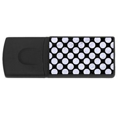 Circles2 Black Marble & White Marble Usb Flash Drive Rectangular (4 Gb) by trendistuff
