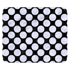 Circles2 Black Marble & White Marble Double Sided Flano Blanket (small) by trendistuff