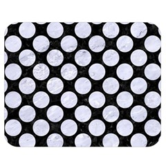 Circles2 Black Marble & White Marble Double Sided Flano Blanket (medium) by trendistuff