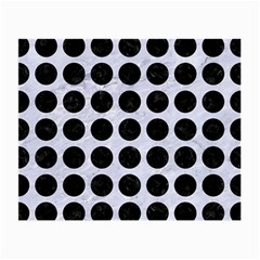 Circles1 Black Marble & White Marble (r) Small Glasses Cloth