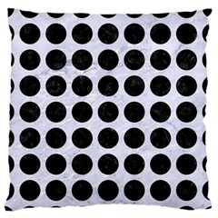 Circles1 Black Marble & White Marble (r) Standard Flano Cushion Case (one Side) by trendistuff