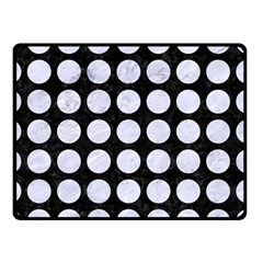 Circles1 Black Marble & White Marble Double Sided Fleece Blanket (small) by trendistuff