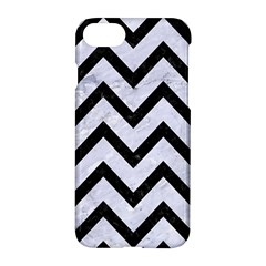 Chevron9 Black Marble & White Marble (r) Apple Iphone 7 Hardshell Case by trendistuff