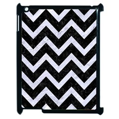 Chevron9 Black Marble & White Marble Apple Ipad 2 Case (black) by trendistuff