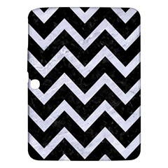 Chevron9 Black Marble & White Marble Samsung Galaxy Tab 3 (10 1 ) P5200 Hardshell Case  by trendistuff