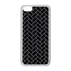 Brick2 Black Marble & White Marble Apple Iphone 5c Seamless Case (white) by trendistuff