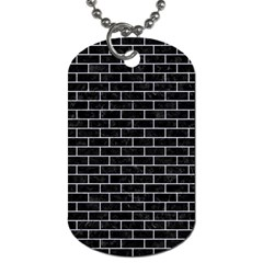 Brick1 Black Marble & White Marble Dog Tag (two Sides) by trendistuff