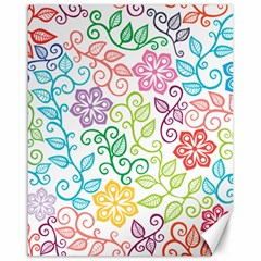 Texture Flowers Floral Seamless Canvas 16  X 20   by Jojostore