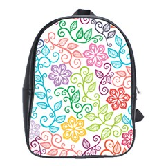 Texture Flowers Floral Seamless School Bags(large)