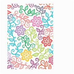 Texture Flowers Floral Seamless Large Garden Flag (two Sides)