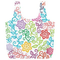 Texture Flowers Floral Seamless Full Print Recycle Bags (l)