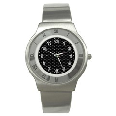 Space Black Stainless Steel Watch by AnjaniArt
