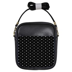 Space Black Girls Sling Bags